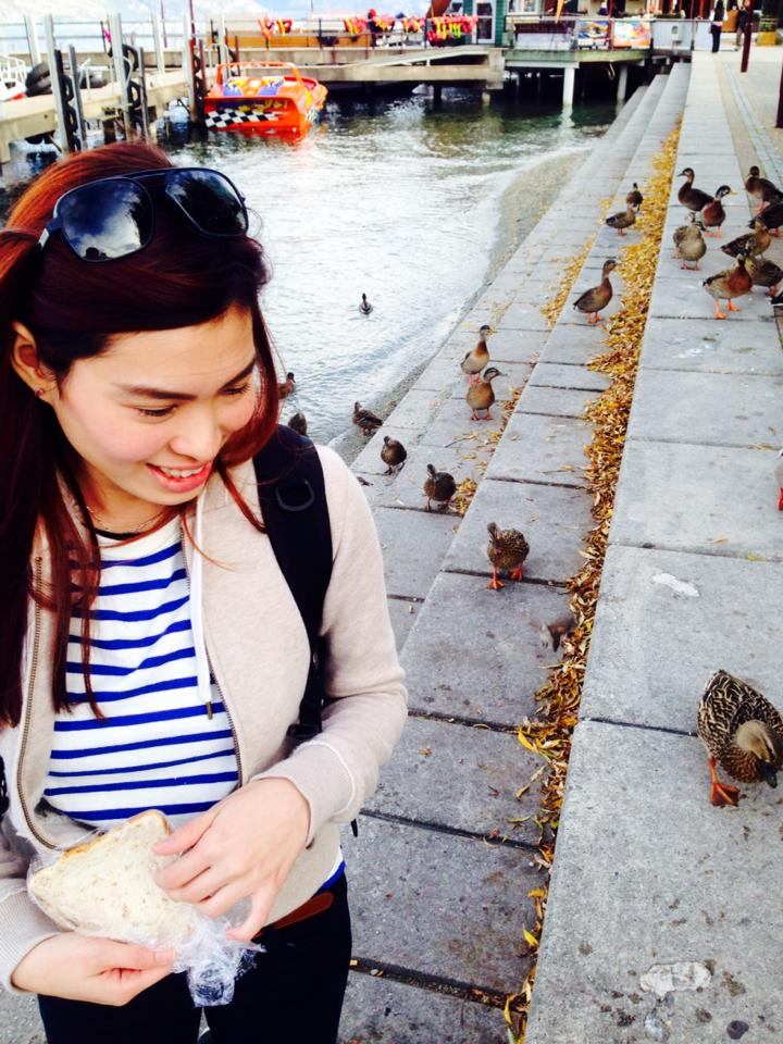 Duck Feeding at Lake Side Queenstown